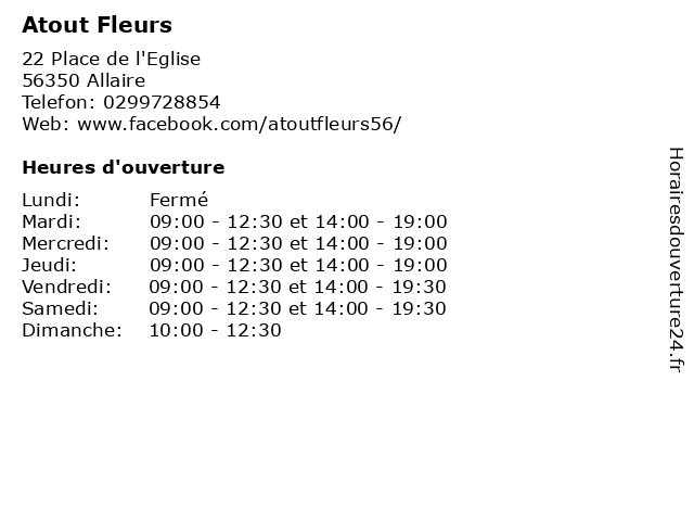 Atout Fleurs à Allaire: adresse et heures d'ouverture