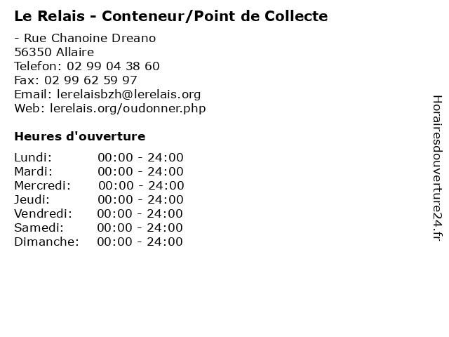 Le Relais - Conteneur/Point de Collecte à Allaire: adresse et heures d'ouverture