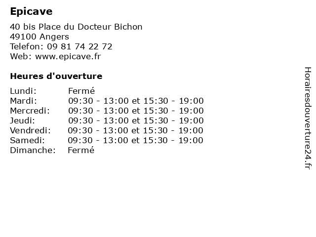 Epicave à Angers: adresse et heures d'ouverture