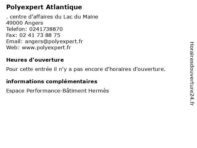 Polyexpert Atlantique à Angers: adresse et heures d'ouverture