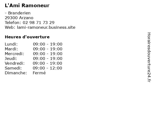 L'Ami Ramoneur à Arzano: adresse et heures d'ouverture