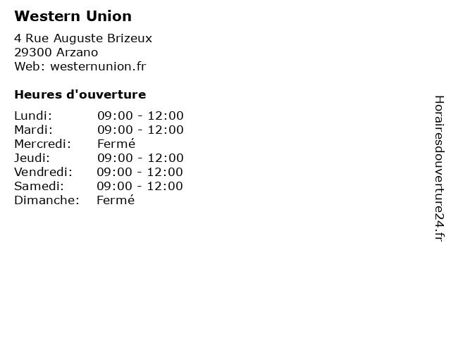 Western Union à Arzano: adresse et heures d'ouverture