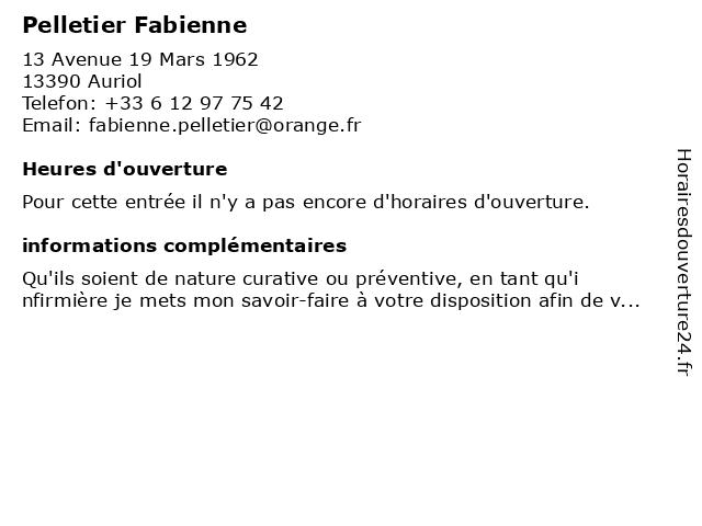Pelletier Fabienne à Auriol: adresse et heures d'ouverture