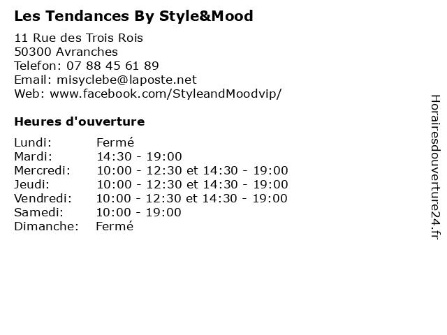 Les Tendances By Style&Mood à Avranches: adresse et heures d'ouverture