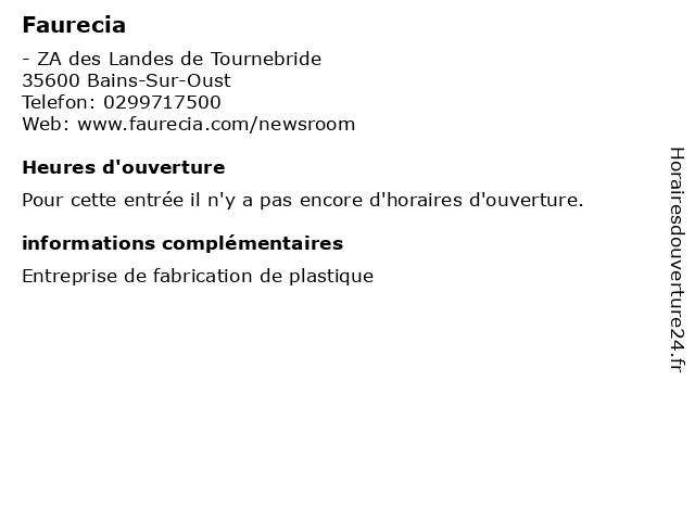 Faurecia à Bains-Sur-Oust: adresse et heures d'ouverture