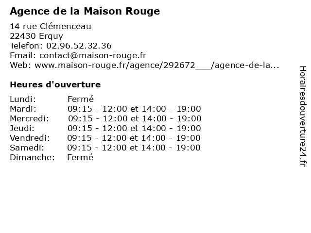 Agence de la Maison Rouge à Beaussais-sur-Mer: adresse et heures d'ouverture
