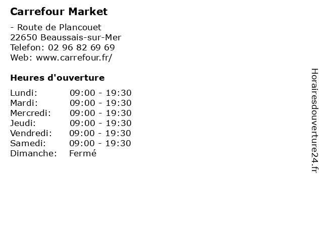 Carrefour Market à Beaussais-sur-Mer: adresse et heures d'ouverture