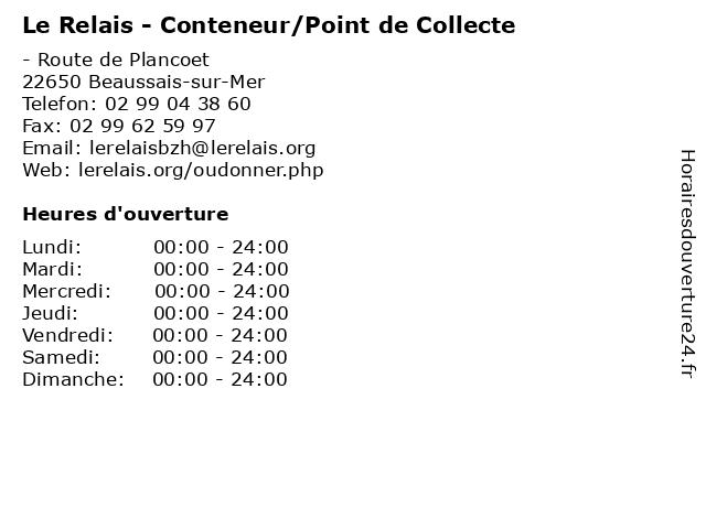 Le Relais - Conteneur/Point de Collecte à Beaussais-sur-Mer: adresse et heures d'ouverture