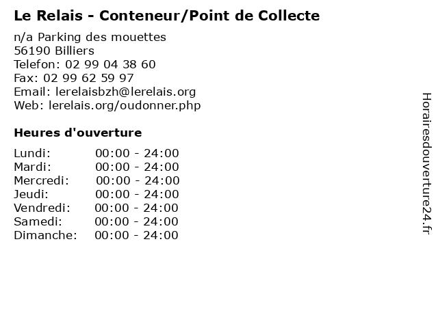 Le Relais - Conteneur/Point de Collecte à Billiers: adresse et heures d'ouverture