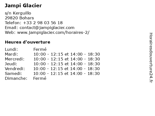 Jampi Glacier à Bohars: adresse et heures d'ouverture
