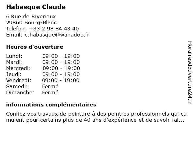 Habasque Claude à Bourg-Blanc: adresse et heures d'ouverture