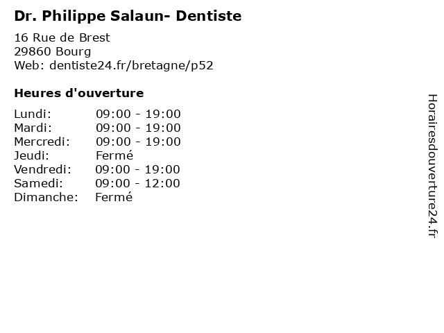 Dr. Philippe Salaun- Dentiste à Bourg: adresse et heures d'ouverture