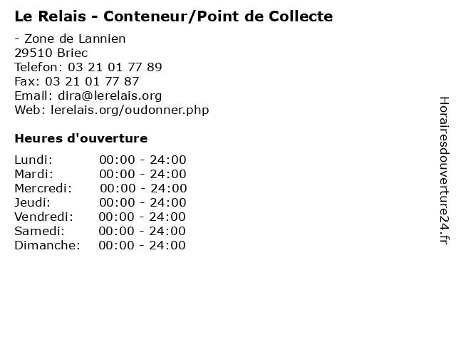 Le Relais - Conteneur/Point de Collecte à Briec: adresse et heures d'ouverture