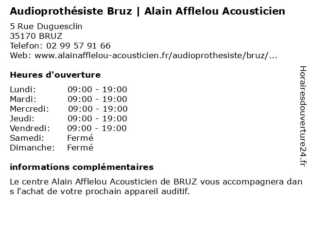 Alain Afflelou à Bruz: adresse et heures d'ouverture