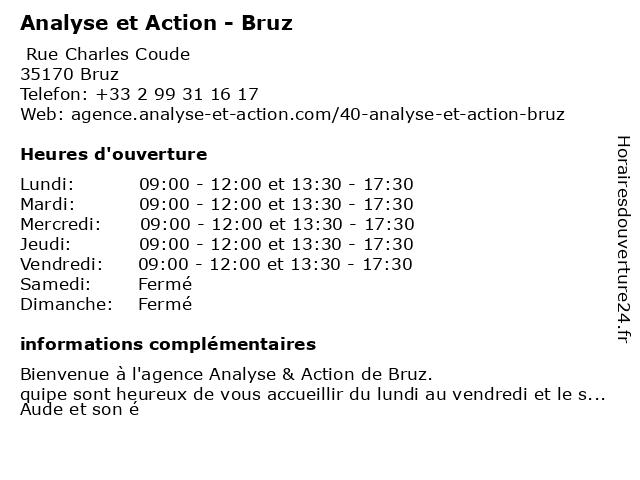 Analyse et Action - Bruz à Bruz: adresse et heures d'ouverture