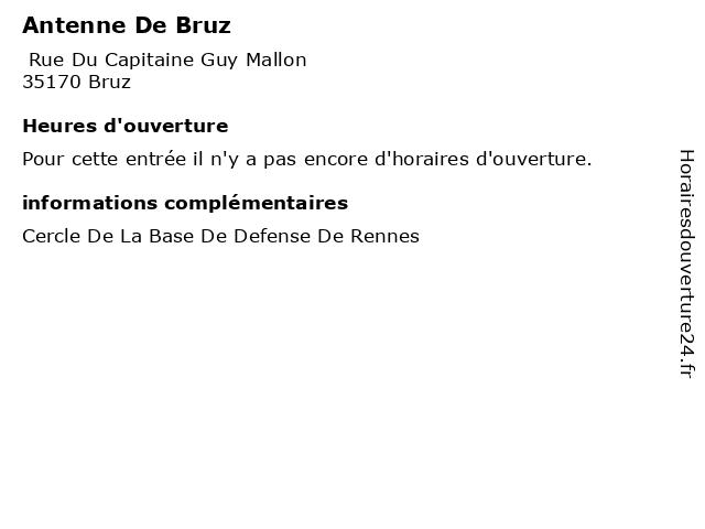 Antenne De Bruz à Bruz: adresse et heures d'ouverture