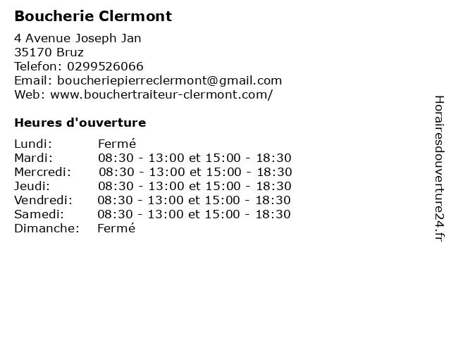 Eurl Pierre Clermont à Bruz: adresse et heures d'ouverture