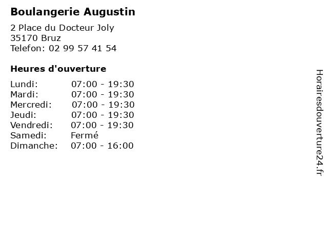 Boulangerie Augustin à Bruz: adresse et heures d'ouverture
