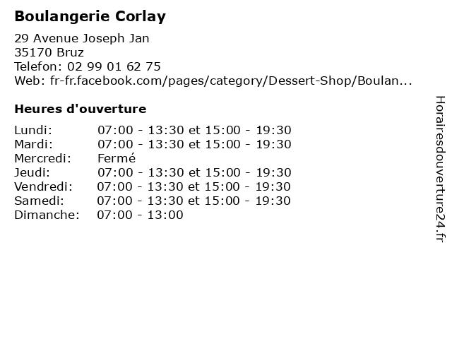 Boulangerie Corlay à Bruz: adresse et heures d'ouverture