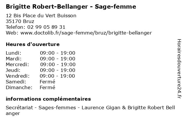 Brigitte Robert-Bellanger - Sage-femme à Bruz: adresse et heures d'ouverture