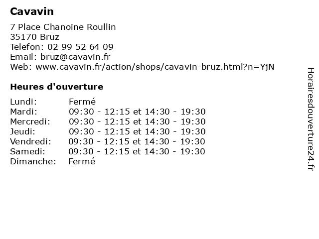 Cavavin à Bruz: adresse et heures d'ouverture