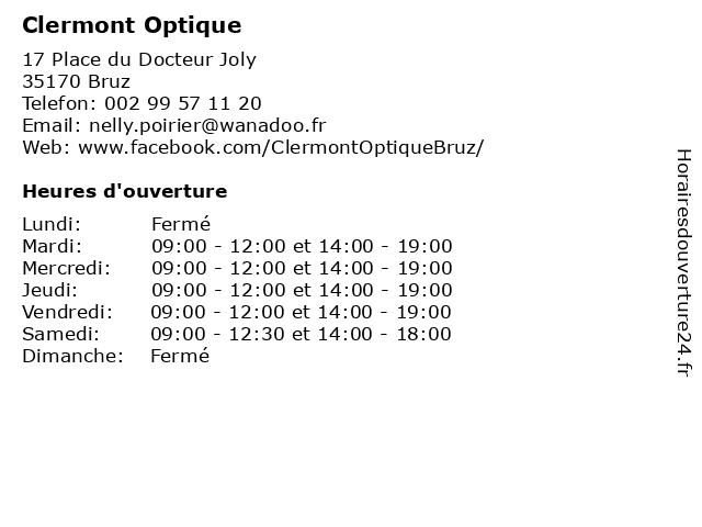 Clermont Optique à Bruz: adresse et heures d'ouverture