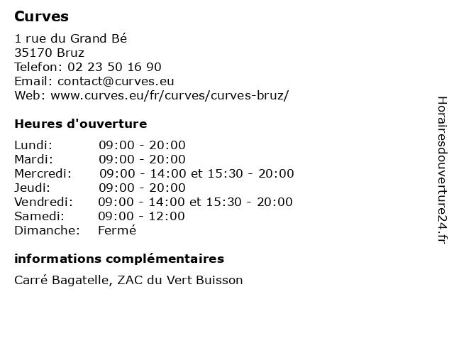 Curves à Bruz: adresse et heures d'ouverture