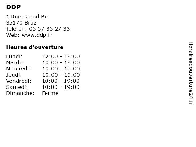 DDP à Bruz: adresse et heures d'ouverture