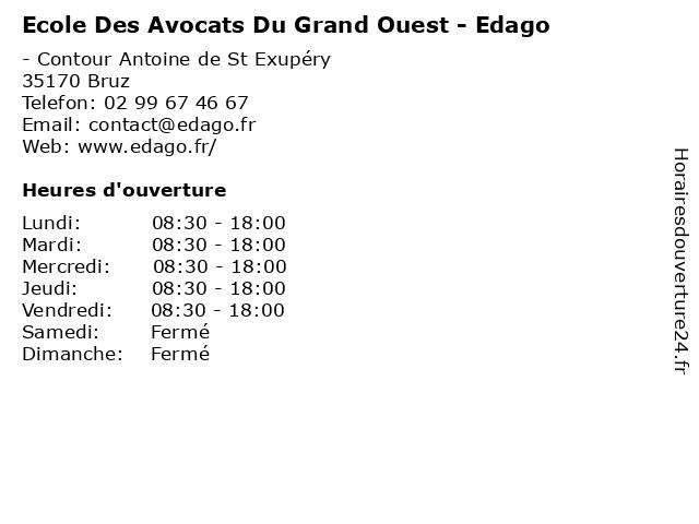 Ecole Des Avocats Du Grand Ouest - Edago à Bruz: adresse et heures d'ouverture