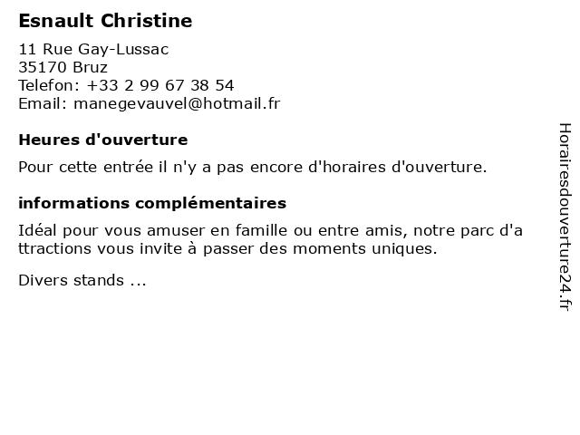 Esnault Christine à Bruz: adresse et heures d'ouverture
