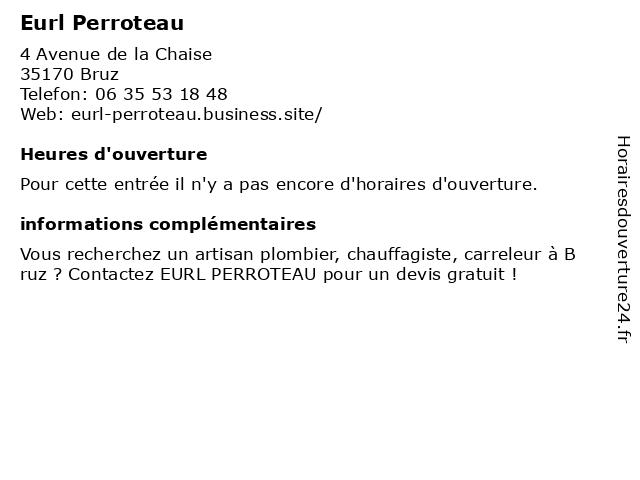 Eurl Perroteau à Bruz: adresse et heures d'ouverture