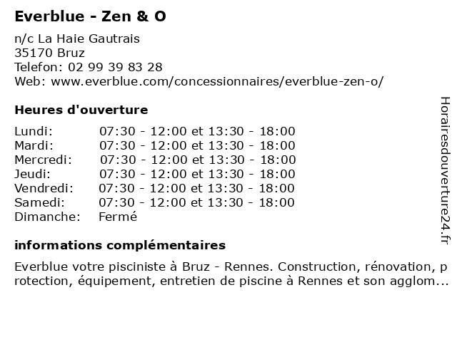Everblue - Zen & O à Bruz: adresse et heures d'ouverture