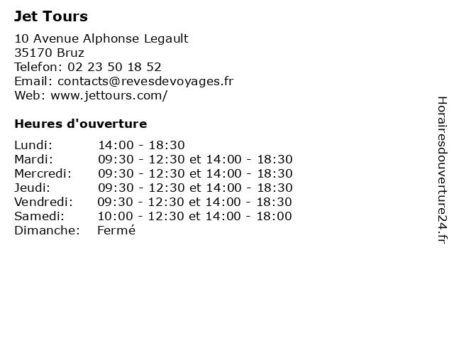 Jet Tours à Bruz: adresse et heures d'ouverture