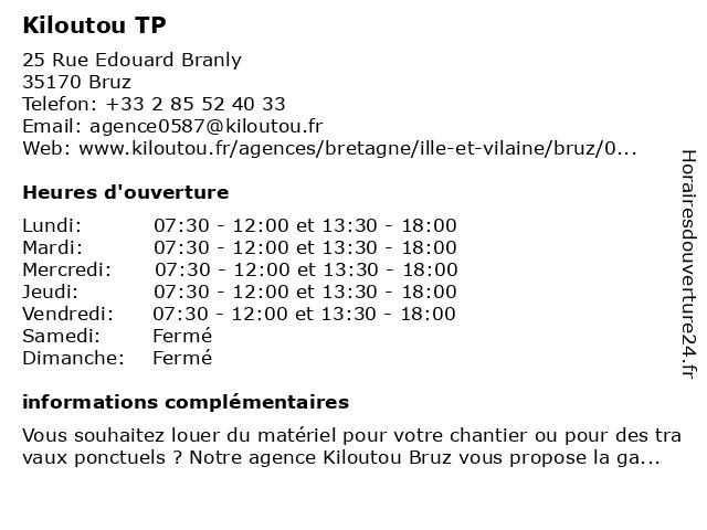 Kiloutou à Bruz: adresse et heures d'ouverture
