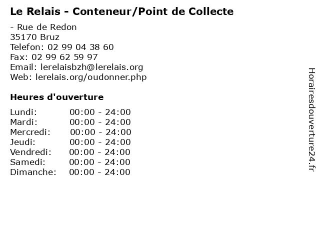 Le Relais - Conteneur/Point de Collecte à Bruz: adresse et heures d'ouverture