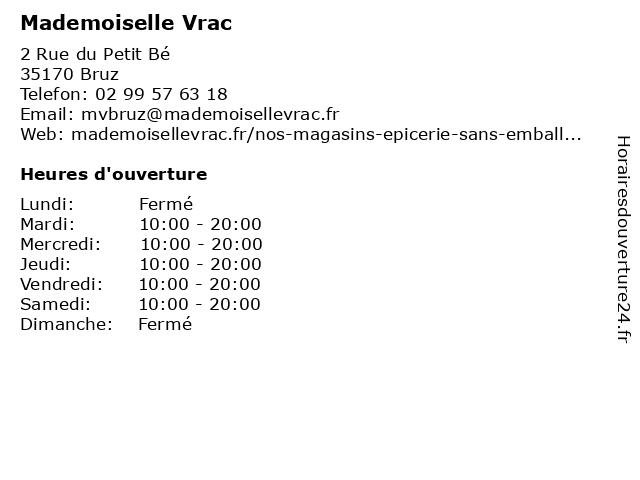 Mademoiselle Vrac à Bruz: adresse et heures d'ouverture
