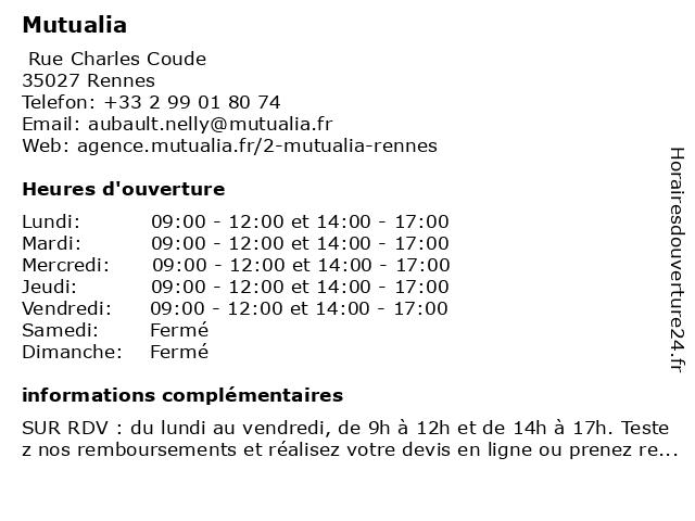 Mutualia à Bruz: adresse et heures d'ouverture