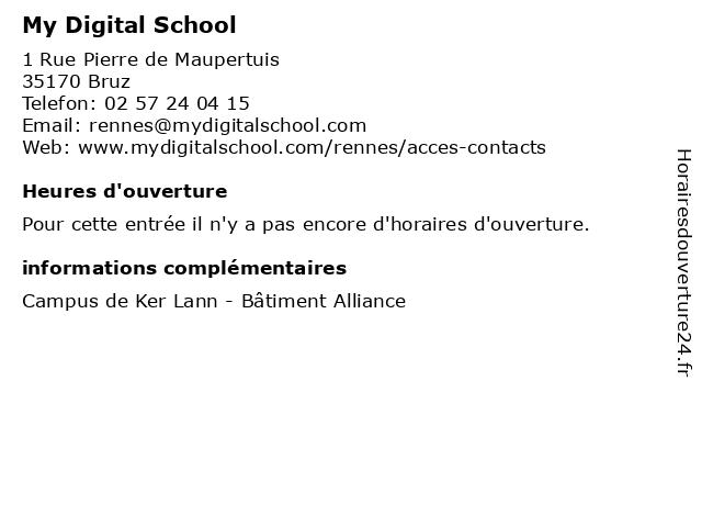 My Digital School à Bruz: adresse et heures d'ouverture