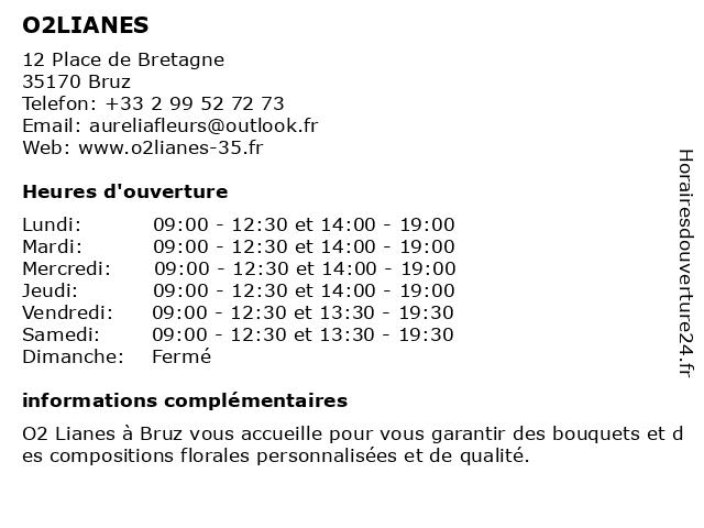 O2LIANES à Bruz: adresse et heures d'ouverture