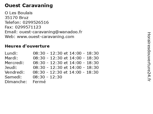 Ouest Caravaning à Bruz: adresse et heures d'ouverture