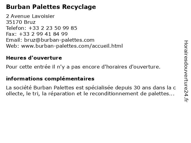 REI (Recyclage Emballages Industriels) à Bruz: adresse et heures d'ouverture
