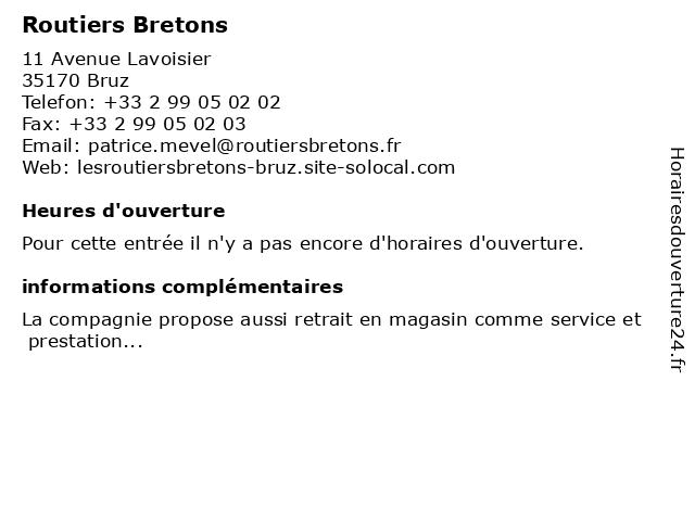 Routiers Bretons à Bruz: adresse et heures d'ouverture