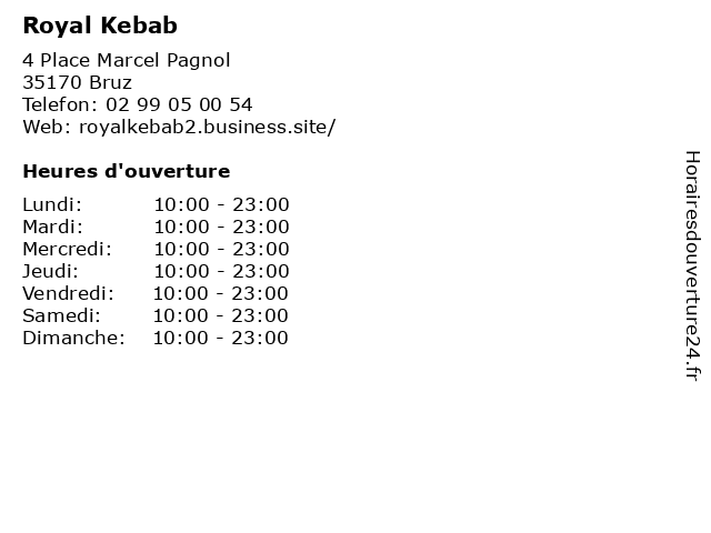 Royal Kebab à Bruz: adresse et heures d'ouverture