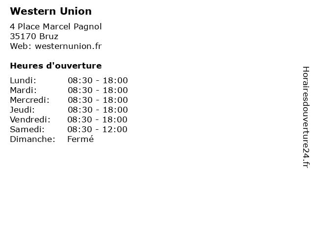 Western Union à Bruz: adresse et heures d'ouverture
