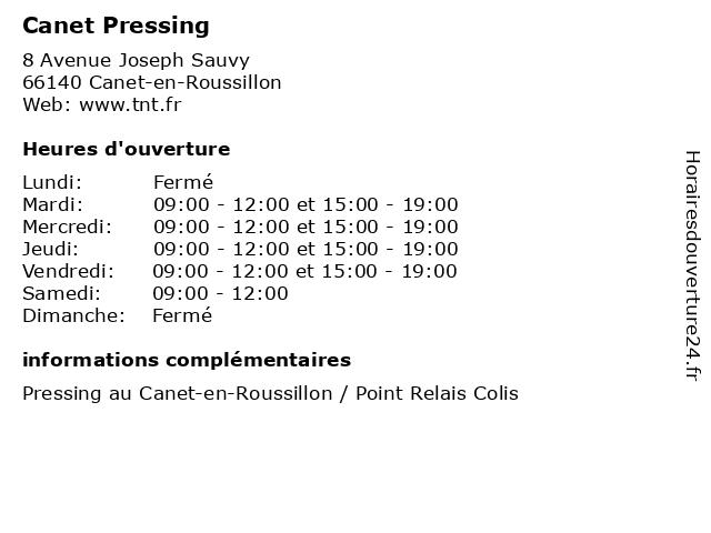 Á… Canet Pressing Horaires D Ouverture 8 Avenue Joseph Sauvy A Canet En Roussillon