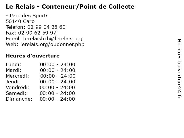 Le Relais - Conteneur/Point de Collecte à Caro: adresse et heures d'ouverture