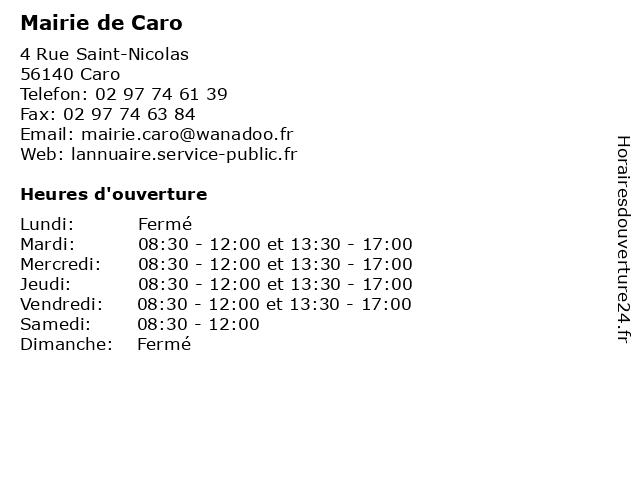 Mairie de Caro à Caro: adresse et heures d'ouverture