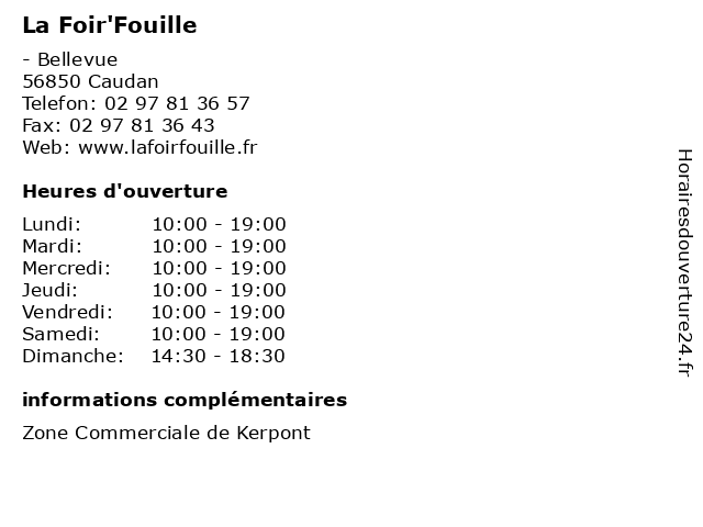 La Foir'Fouille à Caudan: adresse et heures d'ouverture