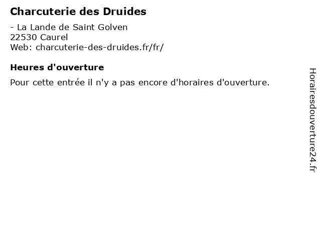 Charcuterie des Druides à Caurel: adresse et heures d'ouverture