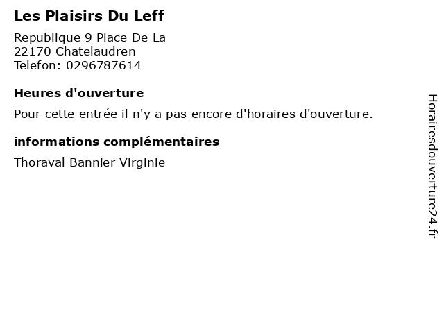 Les Plaisirs Du Leff à Chatelaudren: adresse et heures d'ouverture
